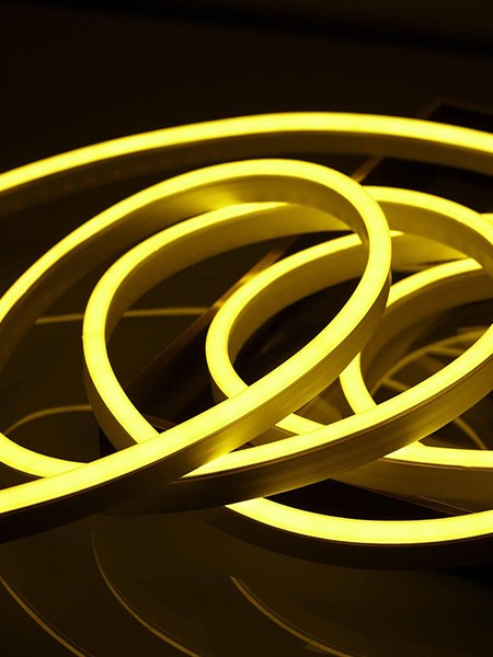 Гибкий неон 8x16мм, 220В. Желтый