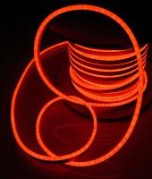Гибкий неон МИНИ 8x16мм, 220В. Оранжевый