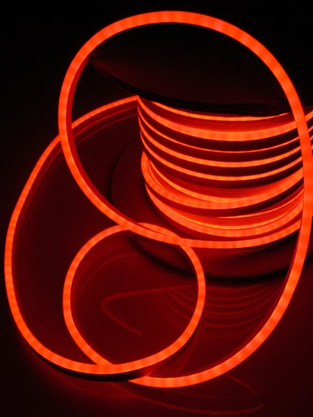 Гибкий неон 8x16мм, 220В. Оранжевый