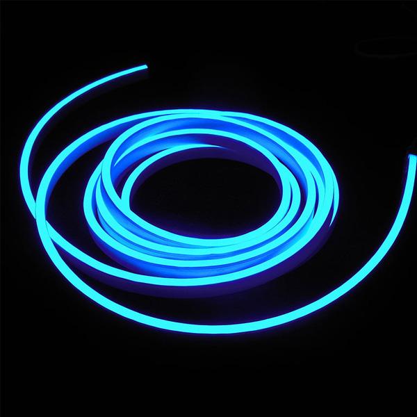 Гибкий неон 8x16мм, 220В. Синий