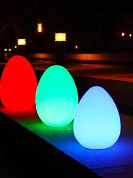 Ландшафтный светильник в форме яйца, RGB