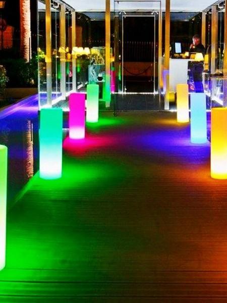 """Светильник влагозащищенный """"Столбик цилиндрический"""", D=250 мм, RGB"""