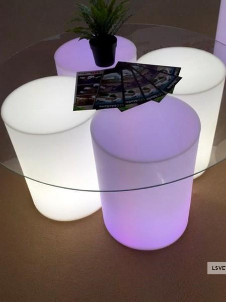 Фуршетный влагозащищенный стол-цилиндр, D=380мм, RGB