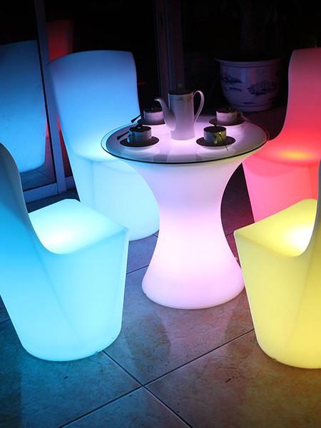 LED столик для коктейля, презентационный, D=600мм, RGB