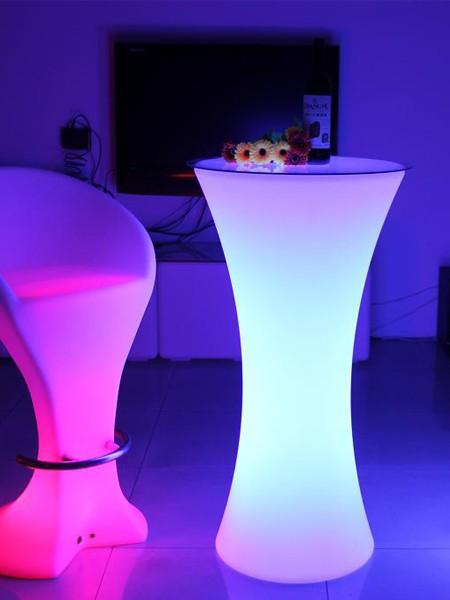LED столик презентационный для коктейля, фуршетный, 580*580*1100мм, RGB