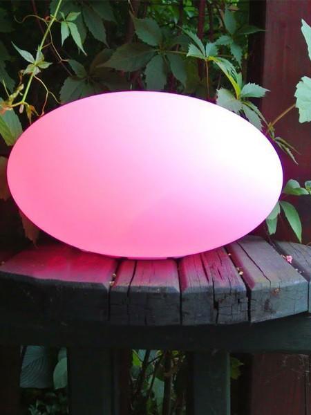 Ландшафтный светильник овальный влагозащищенный 400*200мм, RGB