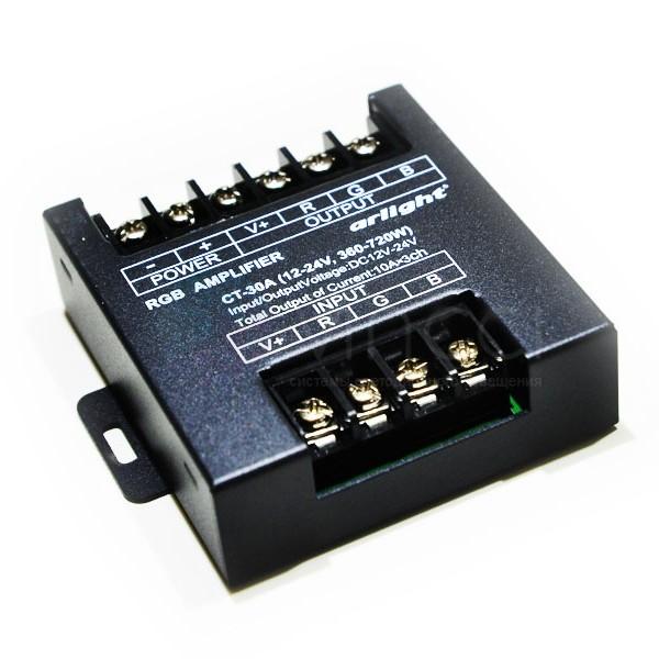 Усилитель для контроллера для светодиодной ленты RGB 360/720 Вт
