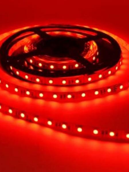 Светодиодная лента LUX открытая 5050 60 диодов  красная