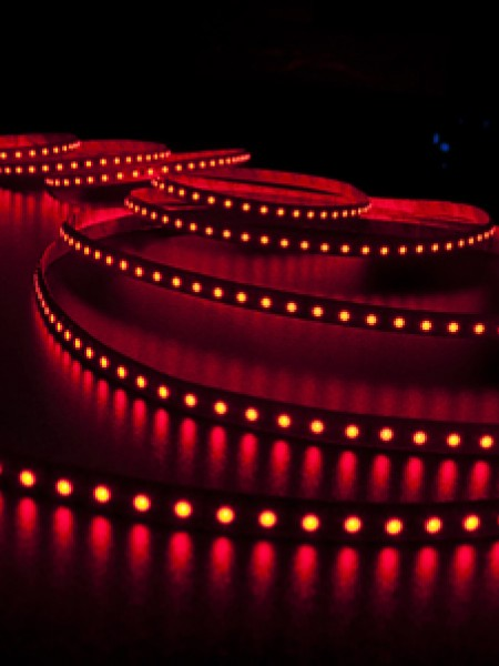 Светодиодная лента LUX открытая 3528 120 диодов красная