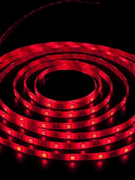 Светодиодная лента LUX герметичная 5050 30 диодов красный