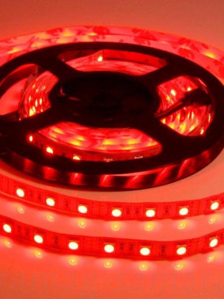 Светодиодная лента LUX герметичная 5050 60 диодов красный
