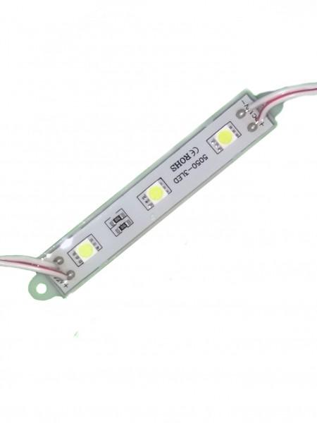 Светодиодный модуль 3 диода 5050 белый