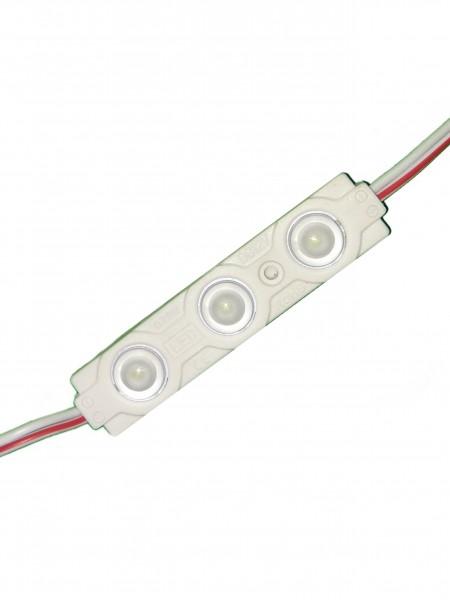 Светодиодный модуль с линзой 3 диода SMD 2835 белый
