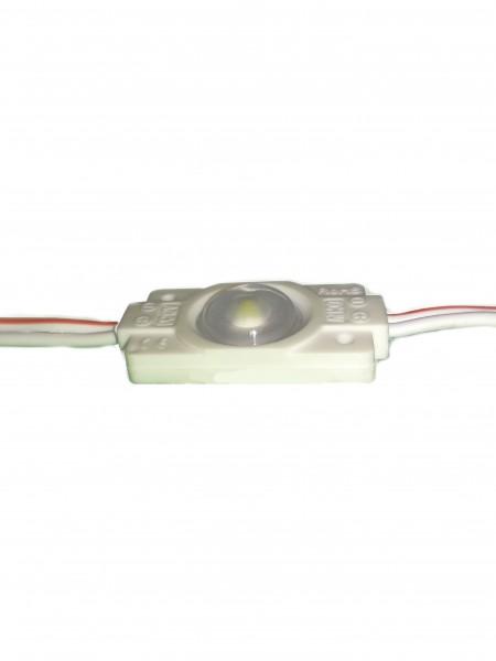 Светодиодный модуль с линзой 1 диод 2835 белый
