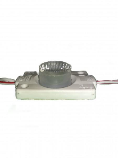 Светодиодный модуль торцевой с линзой 1 диод 5050 белый