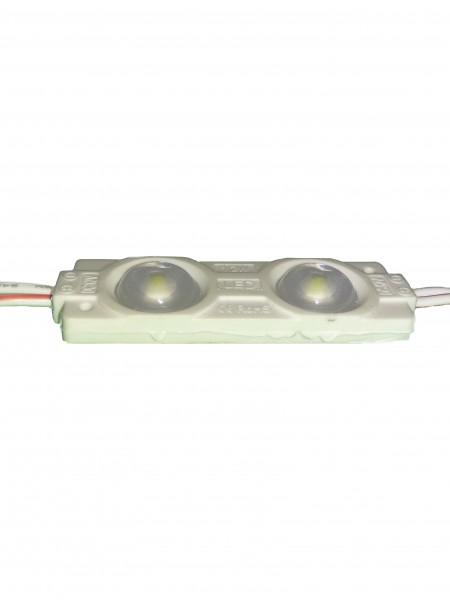 Светодиодный модуль с линзой 2 диода SMD 2835 белый