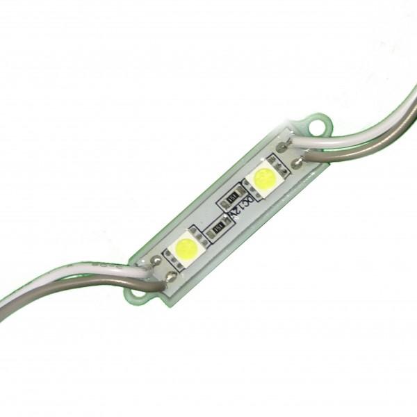 Светодиодный модуль 2 диода 5050 белый