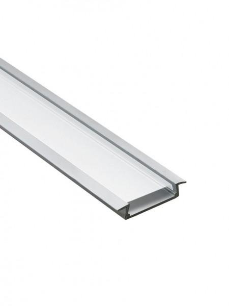 Профиль алюминиевый встраиваемый широкий 2м