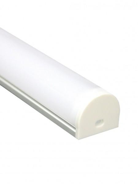 Профиль алюминиевый круглый широкий накладной 2м