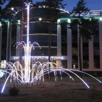 Световой масштабный фонтан