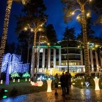Декоративное световое оформление здания