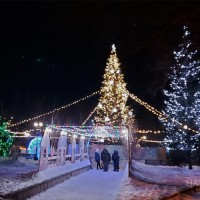 Новогодняя уличная светодиодная подсветка