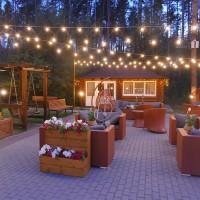 Подсветка ресторанов светодиодными гирляндами