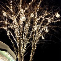 Клип-лайт светодиодная гирлянда 12В на дерево
