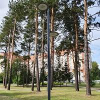Фонарь стальной для освещения парков купить