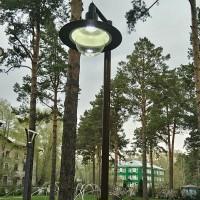 Парковые фонари с круглым плафоном