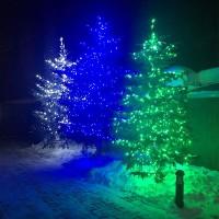 Светодиодные гирлянды для деревьев - спайдер и клип-лайт