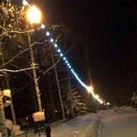 Светодиодные гирлянды в подсветке парков