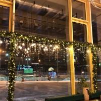 Подсветка светодиодными гирляндами внутри ресторанов
