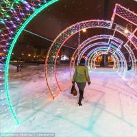 LED гирлянды для создания арок