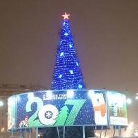 Новогоднее оформление городской елки