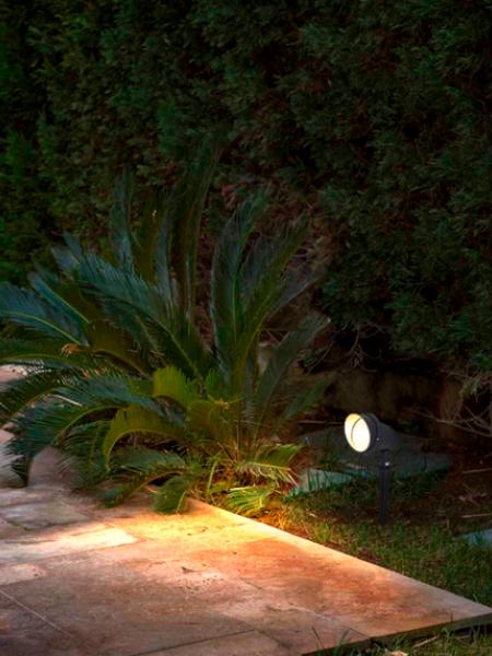 Садовый светильник 9Вт RGB с пультом управления
