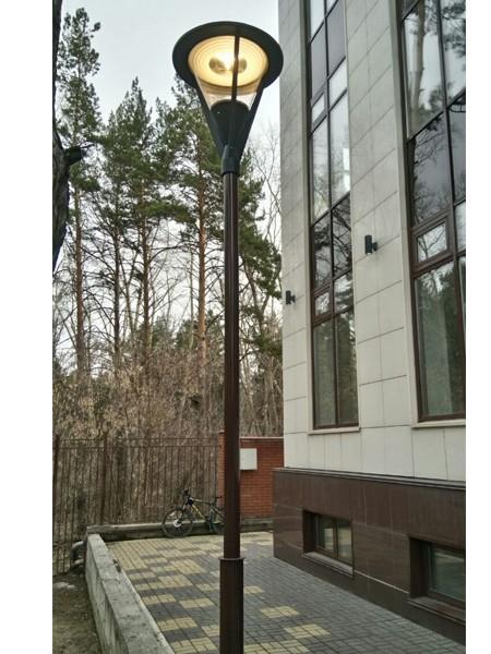 Парковый фонарь LS Стрит-18 с отраженным светом, h=4м. Полный комплект.