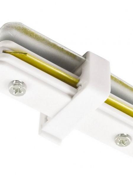 Коннектор для трекового светильника прямой белый
