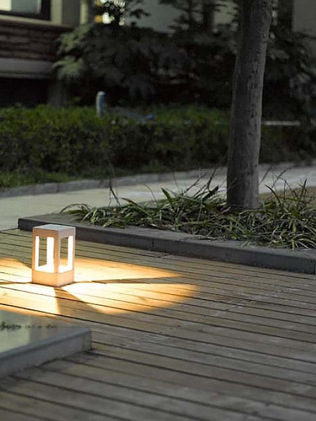 Парковый светодиодный столбик 20см