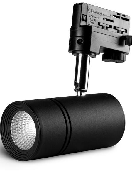 Трековый светильники LE-TREK-10-BL черный корпус 10Вт