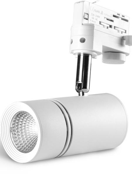 Трековый светильники LE-TREK-10-BL белый корпус 10Вт