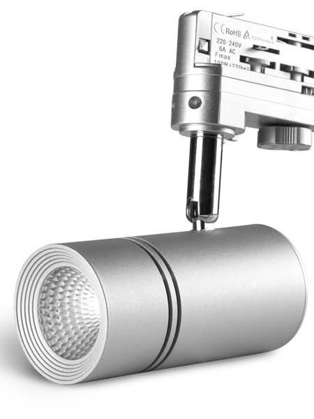 Трековый светильники LE-TREK-10-BL серебристый корпус 10Вт